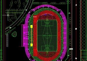 标准体育场地施工设计CAD图纸