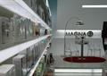 商店設計,商店展示,展示架,休息區,休閑座椅,落地燈