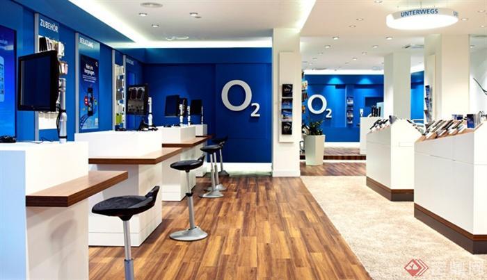 慕尼黑旗舰店设计-电子产品展厅展示柜形象墙