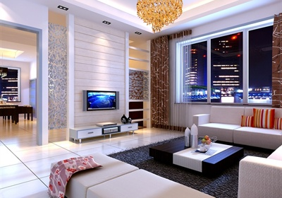 现代简洁三居住宅室内设计cad施工图附效果图
