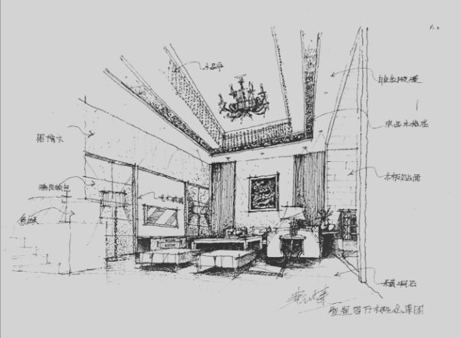 三层豪华大别墅简笔画图片.