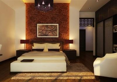 现代中式俭约别墅室内装饰设计cad施工图(含效果图)