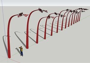 新农村小品SketchUp模型-风筝