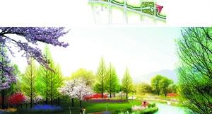 上海松江佘北大居 沉塔泾 河道绿化设计