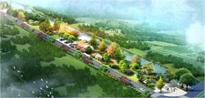 上海市松江區東勝港路南段濱水綠地設計