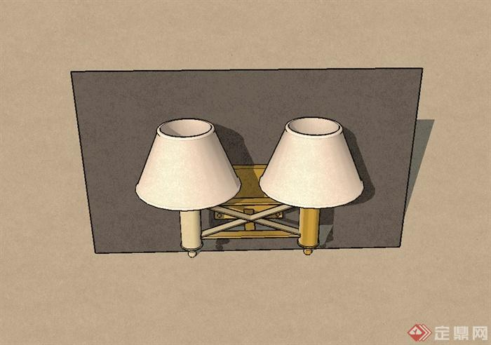 某室内欧式壁灯设计su模型