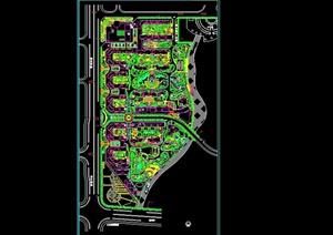 小区绿化景观CAD平面图