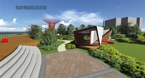 上海某學院校園景觀主軸綠化改造設計