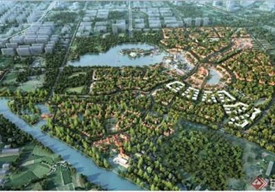 某城市小镇概念规划设计ppt格式文本