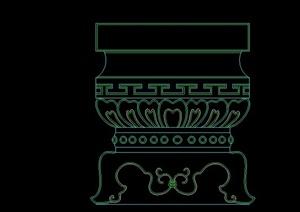 古典中式景观柱合集CAD素材