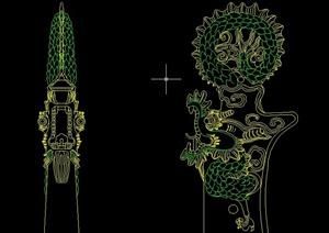 古典中式模纹图样设计cad方案图