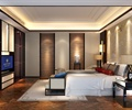 卧室,床,电视背景墙,床头柜,床头灯,床榻,地毯