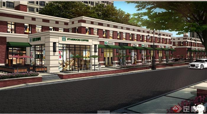 某高层住宅小区入口大门设计su模型+psd效果图[原创]