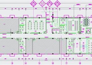现代某教学楼室内装修设计cad施工图