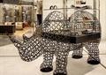 专卖店,犀牛雕塑,展示架