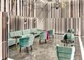 专卖店,休息室,对谈桌椅,沙发茶几,大理石砖,吊灯