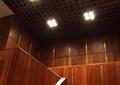 木制楼梯,筒灯,栅格吊顶