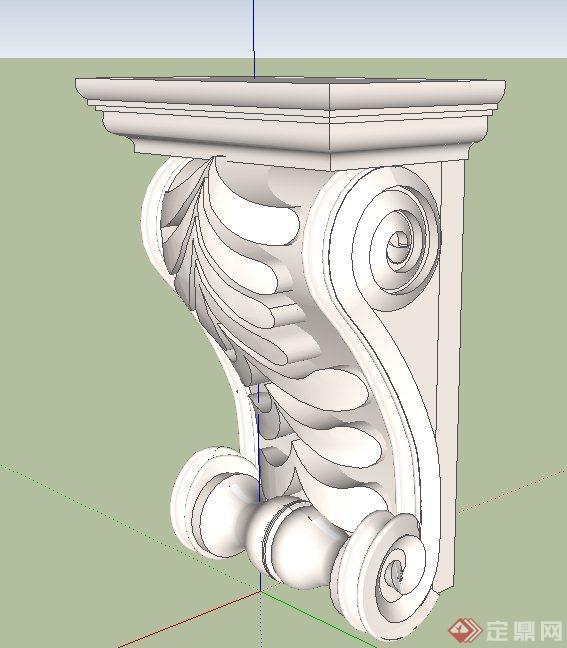 26款欧式柱子设计SU模型(1)