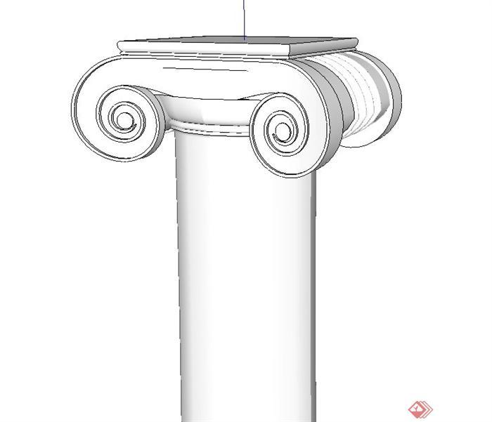 26款欧式柱子设计SU模型(2)