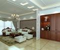 客厅设计,沙发组合,茶几,地毯,装饰柜,窗帘