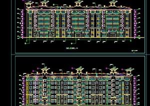 六层砖混住宅楼建筑设计CAD施工图