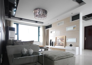 现代四居室家装设计施工图含实景