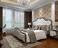 卧室设计,床,地毯,墙面软包,床头柜