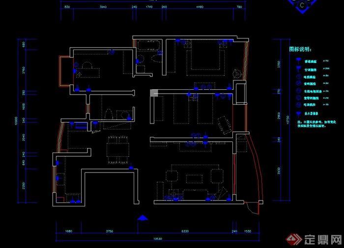 现代室内住宅空间设计cad施工图附效果图[原创]