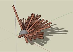 某抽象雕塑小品SU(草图大师)模型