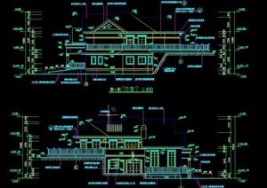 欧式二层别墅建筑设计CAD施工图结构图