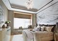 卧室,卧室装饰,床,床头柜,吊灯,电视柜
