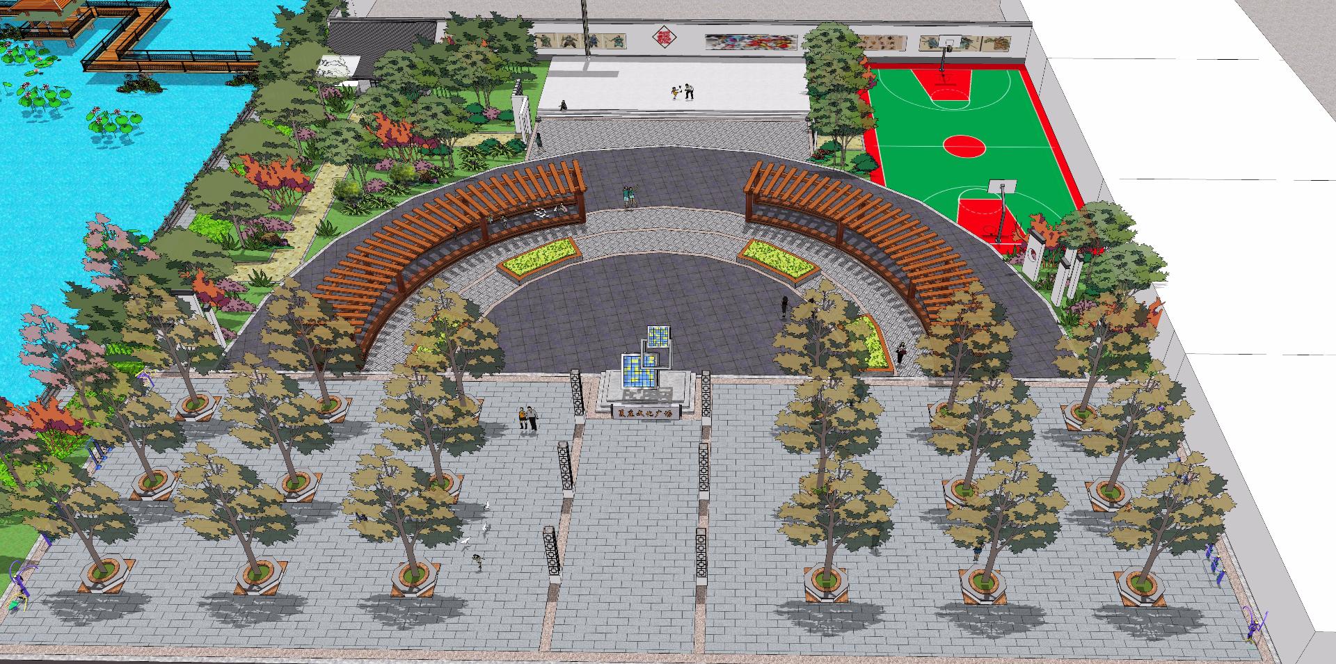 新农村广场