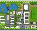 学校设计,学校规划,操场,人工湖
