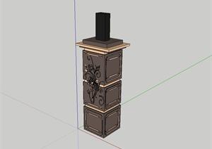 十八中不同造型的柱子设计SU(草图大师)模型