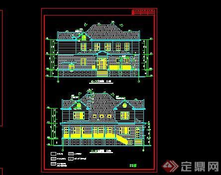 农村别墅自建房效果图 CAD施工图