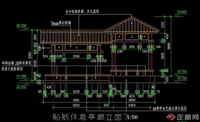 廊亭桥设计cad施工图[原创]