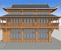 两层古建筑,商业建筑,文化建筑