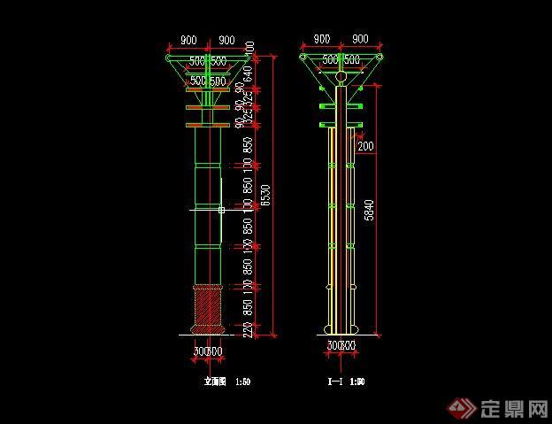 30个景观灯柱设计cad施工图[原创]