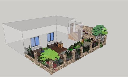 简约现代花园改造项目