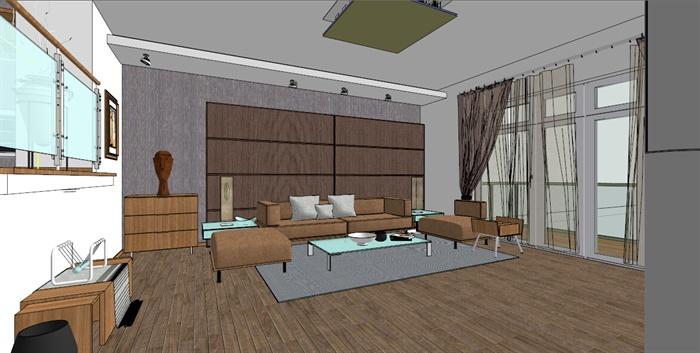 某跃层小户型室内设计su模型