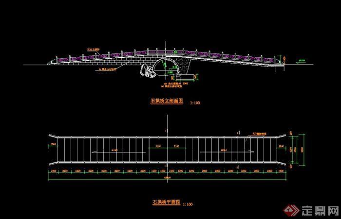 某石拱桥设计cad施工图[原创]cad怎么视口保存中图片