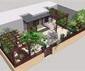 改造后的木质庭院