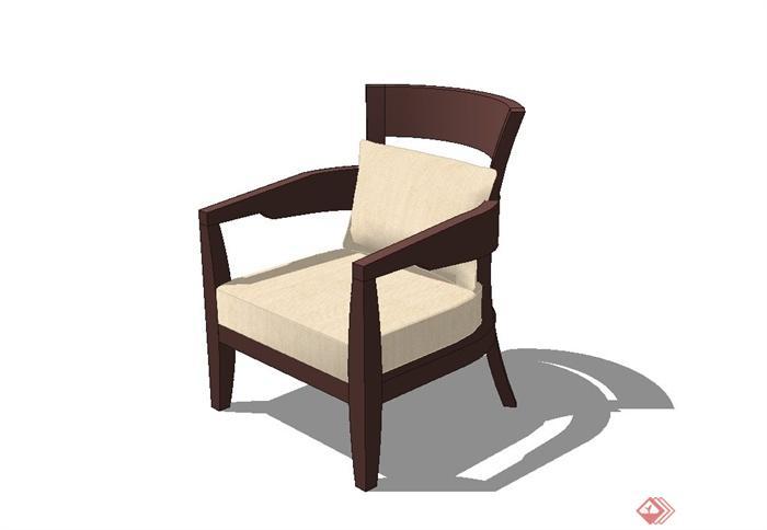 休闲靠椅设计su模型(1)