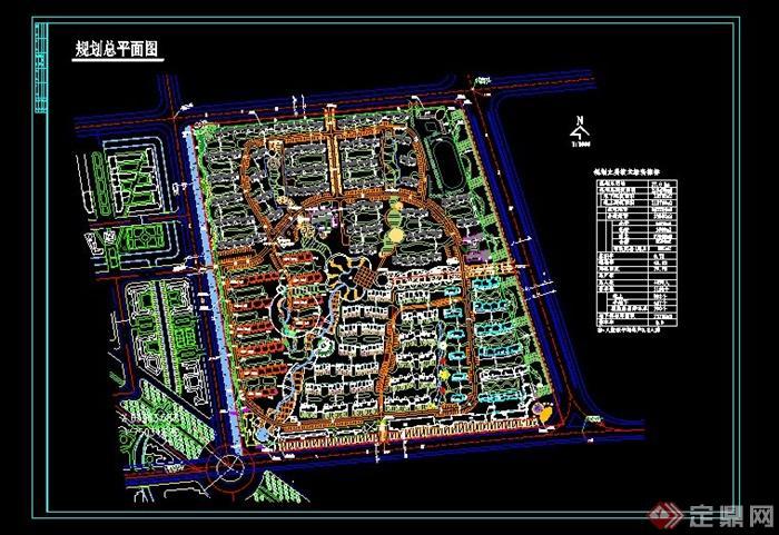 区详细规划设计cad总平面图图片