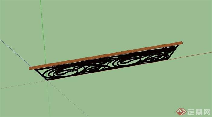 欧式铁艺护栏栏杆设计su模型(3)