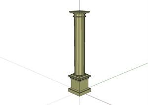 欧式圆柱设计SU(草图大师)模型