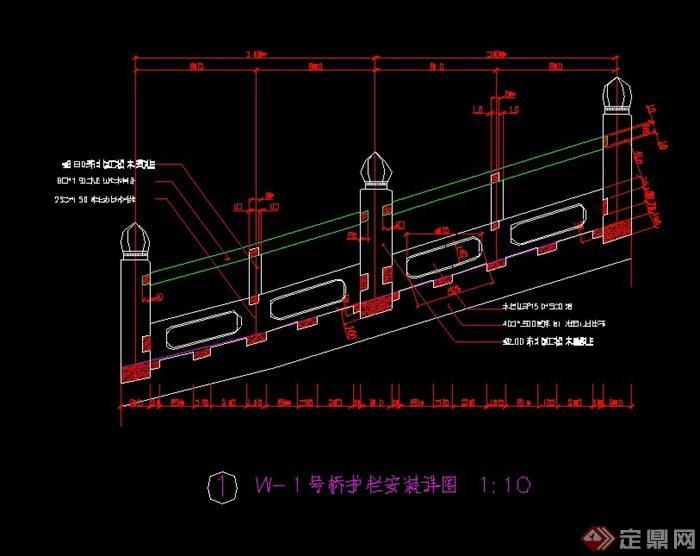 某基准拱桥v基准cad施工图[添加]cad公园面原创图片
