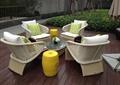 藤椅组合,藤椅家具,坐凳,木板铺装