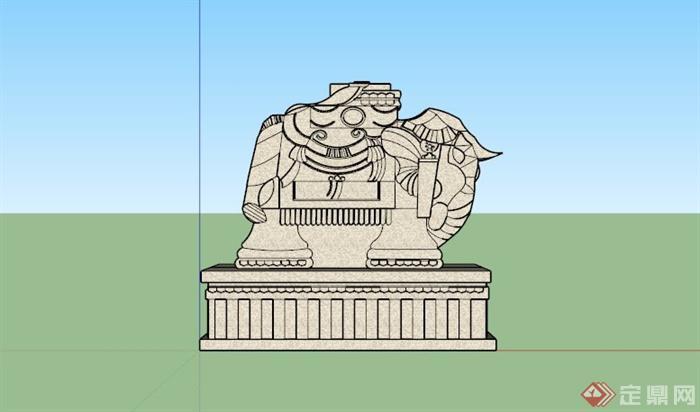 某东南亚小象雕塑小品SU模型