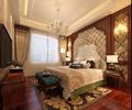 卧室,双人床,床头柜,壁灯,床脚凳,吊灯,台灯,电视柜